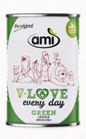 Ami V-Love GREEN vegán nedvestáp kutyáknak 400 g