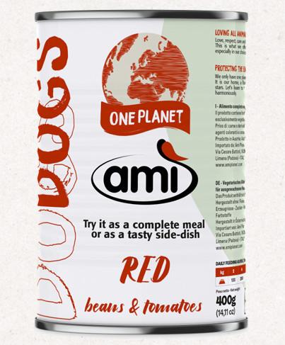Ami V-Love RED vegán nedvestáp kutyáknak 400 g