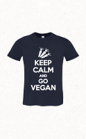 Keep Calm and Go Vegan férfi póló