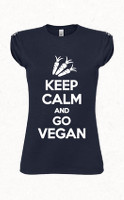 Keep Calm and Go Vegan női póló