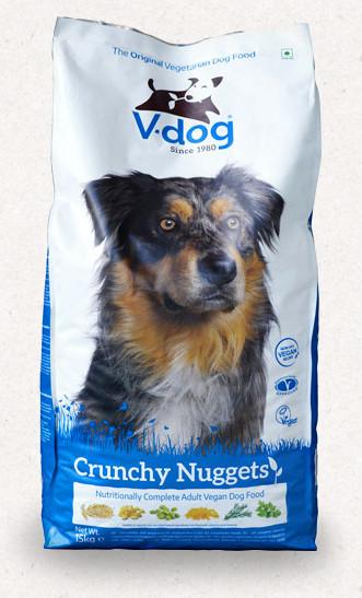 V-dog Crunchy Nuggets vegán száraztáp kutyáknak 15 kg