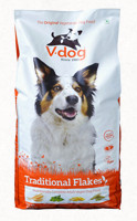 V-dog Traditional Flakes vegán száraztáp kutyáknak 15 kg